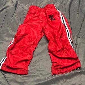 Oshkosh red pants, 2T